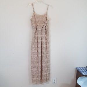 Cynthia Rowley Lace Overlay Maxi Dress Sz 6